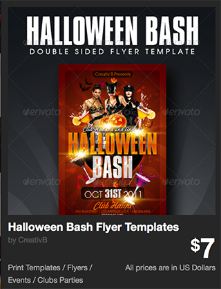 Halloween Bash Flyer Templates by CreativB | GraphicRiver