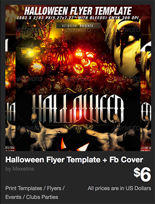 Halloween Flyer Template + Fb Cover by Mexelina | GraphicRiver