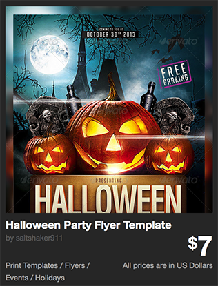 Halloween Party Flyer Template by saltshaker911 | GraphicRiver
