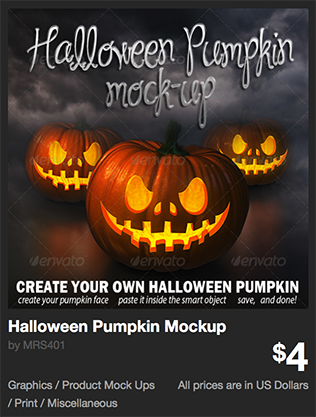 Halloween Pumpkin Mockup by MRS401 | GraphicRiver