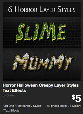 Horror Halloween Creepy Layer Styles Text Effects  by Giallo | GraphicRiver