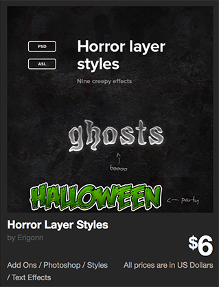 Horror Layer Styles by Erigonn | GraphicRiver