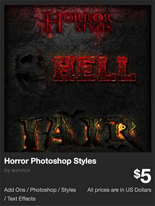 Horror Photoshop Styles by survivor | GraphicRiver