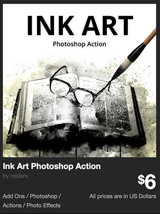 Ink Art Photoshop Action by rojdark | GraphicRiver