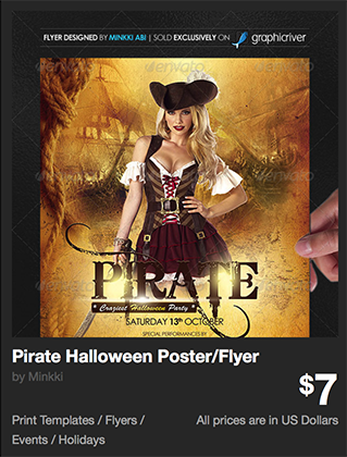 Pirate Halloween Poster/Flyer by Minkki | GraphicRiver