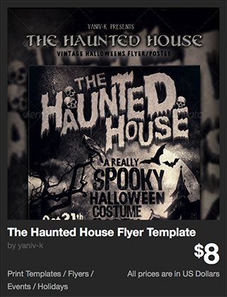 The Haunted House Flyer Template by yaniv-k | GraphicRiver