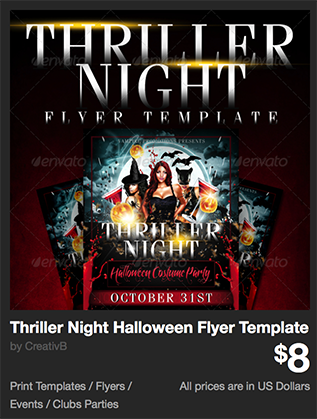 Thriller Night Halloween Flyer Template by CreativB | GraphicRiver