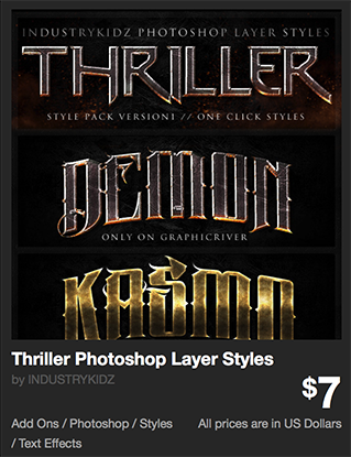 Thriller Photoshop Layer Styles by INDUSTRYKIDZ | GraphicRiver
