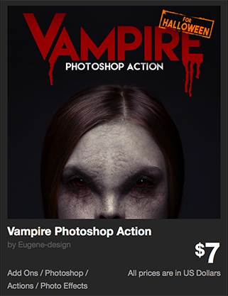 Vampire Photoshop Action by Eugene-design | GraphicRiver