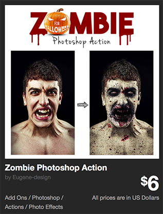 Zombie Photoshop Action by Eugene-design | GraphicRiver