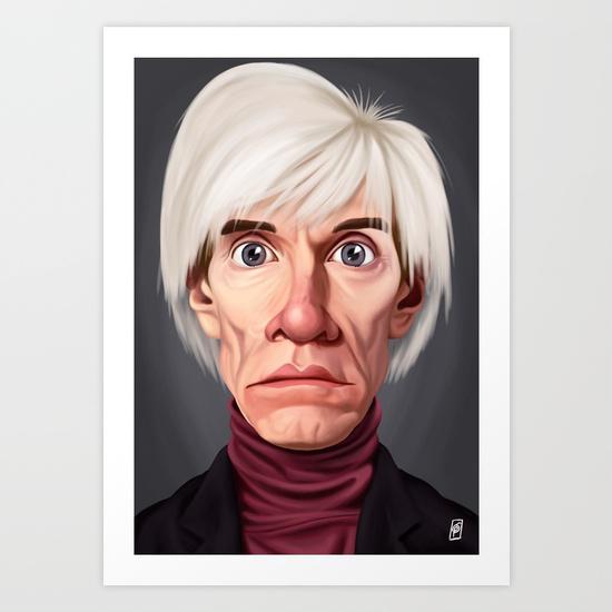 Celebrity Sunday ~ Andy Warhola Art Print by Rob Art | Illustration | Society6