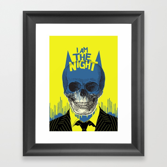 I Am The Night Framed Art Print by Butcher Billy | Society6