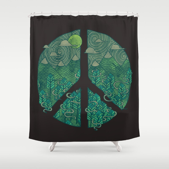 Peaceful Landscape Shower Curtain by Hector Mansilla | Society6
