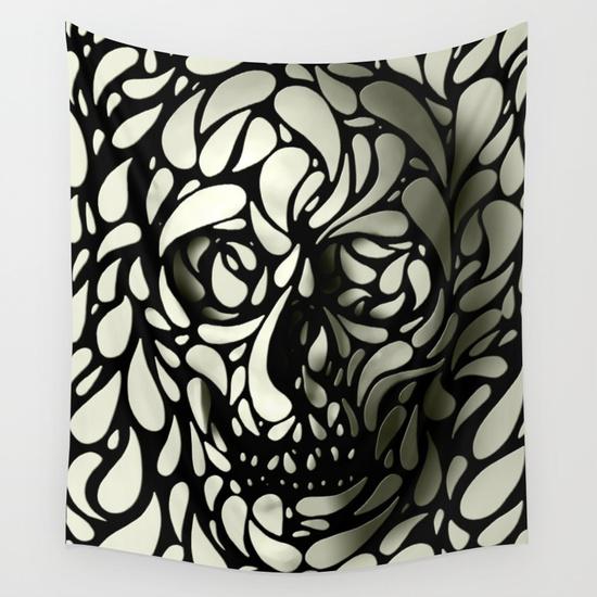 Skull Wall Tapestry by Ali GULEC | Society6