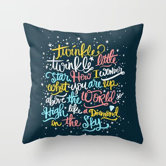 twinkle twinkle twinkle twinkle Throw Pillow by Matthew Taylor Wilson | Society6