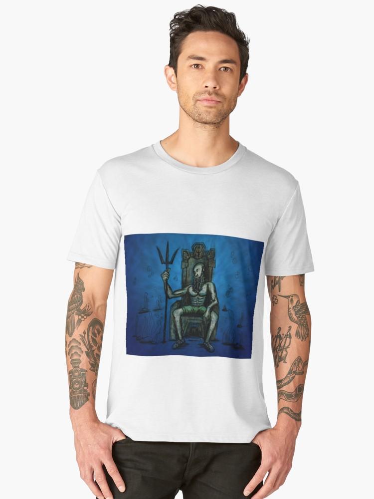 Camisetas premium para hombre «Bearded King Underwater» de angeldecuir | Redbubble