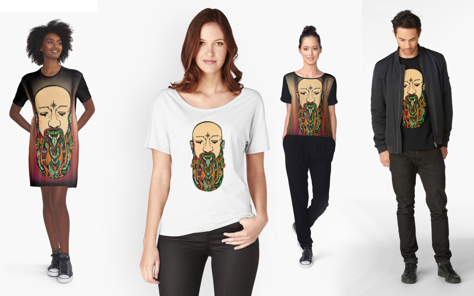Beard abundance, art print disponible para Redbubble