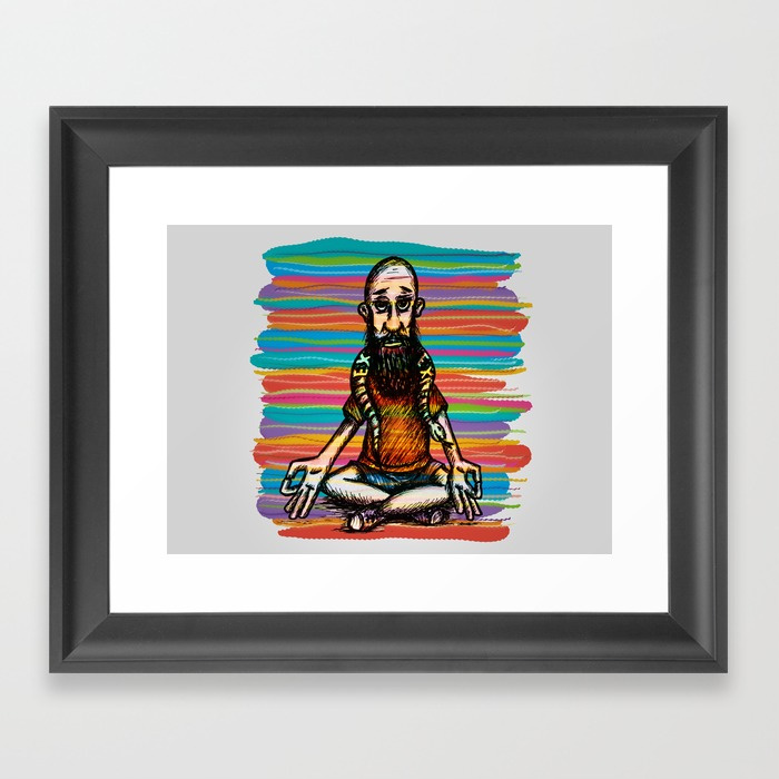 Bearded and ex poison snake Framed Art Print by angeldecuir | Society6