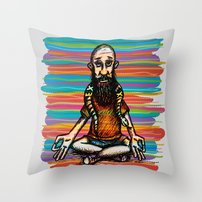 Bearded and ex poison snake Throw Pillow by angeldecuir | Society6