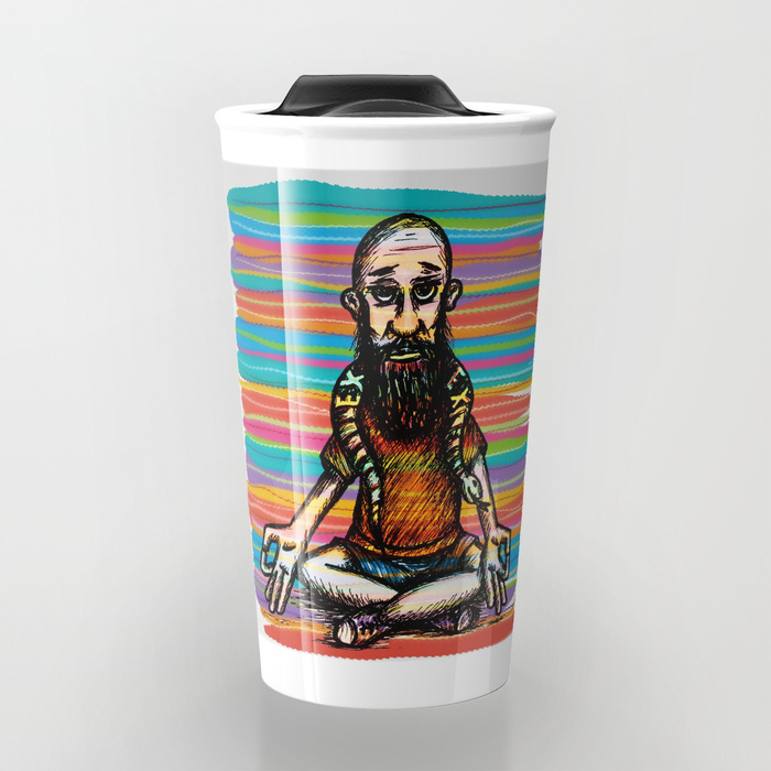 Bearded and ex poison snake Travel Mug by angeldecuir | Society6