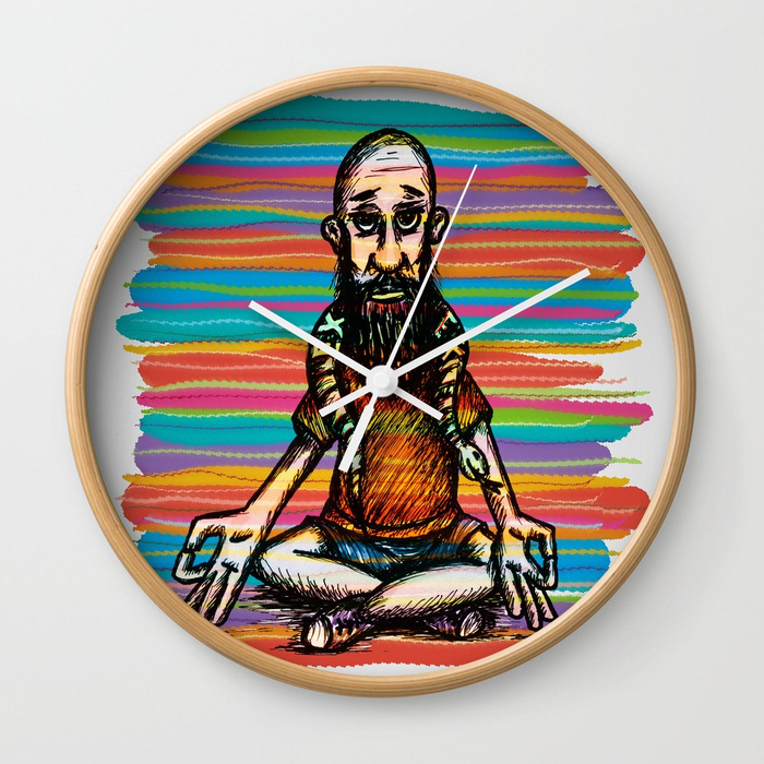 Bearded and ex poison snake Wall Clock by angeldecuir | Society6