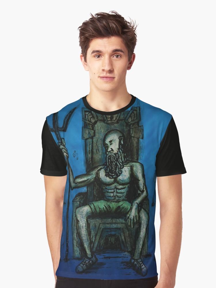 Camisetas gráficas «Bearded King Underwater» de angeldecuir | Redbubble