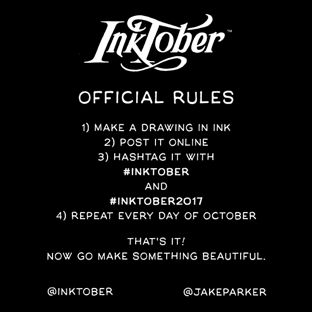 Inktober 2017 official rules