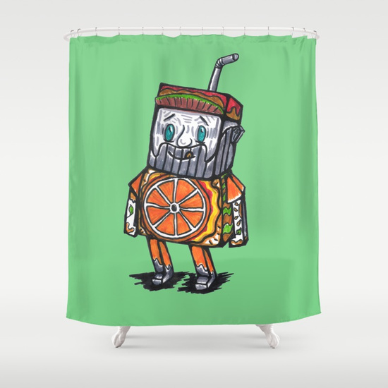"SHOWER CURTAIN 71"" BY 74"" - society6"