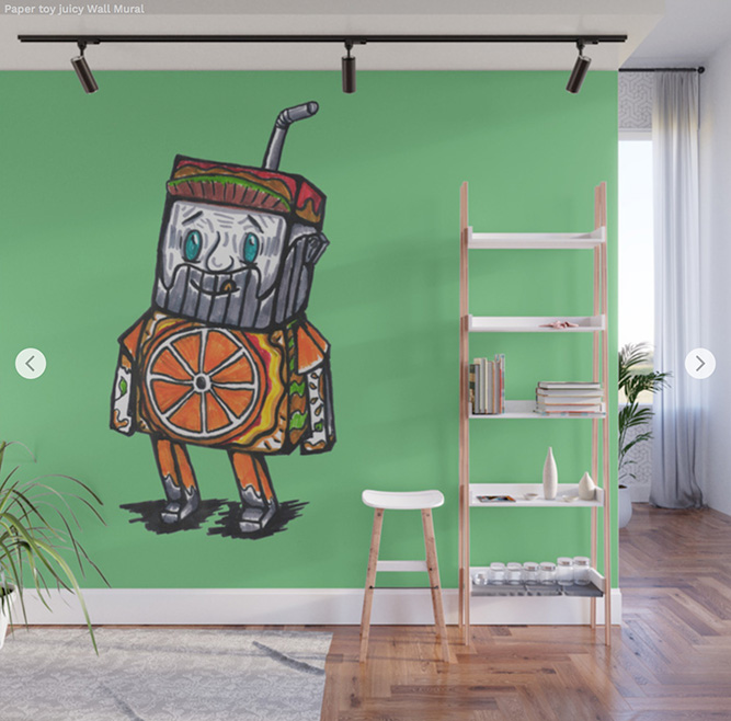 Wall Mural - Paper toy juicy by Angel Decuir | Society6
