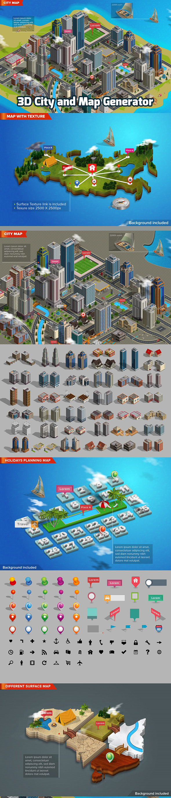 Los best sellers 2017 illustrator add ons de graphicriver 3d city and map generator by designhatti graphicriver gumiabroncs Gallery