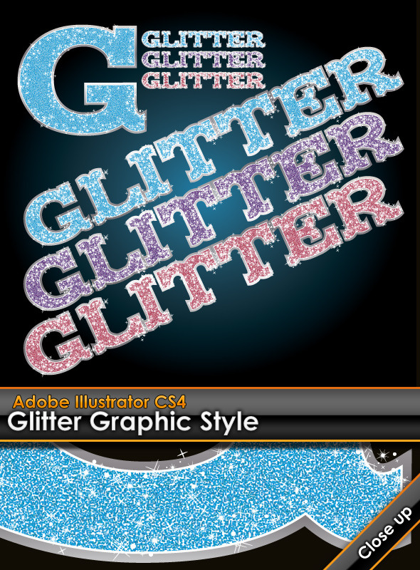 Glitter Illustrator Graphic Style by gruberdesigns | GraphicRiver