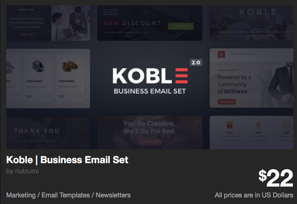 Koble | Business Email Set by nutzumi | ThemeForest