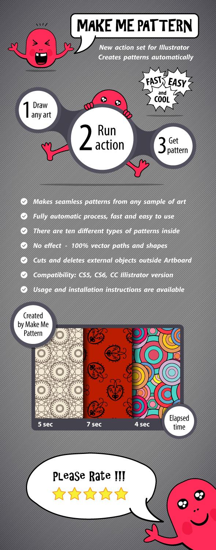 Make Me Pattern Action Set for Illustrator by sptvar | GraphicRiver