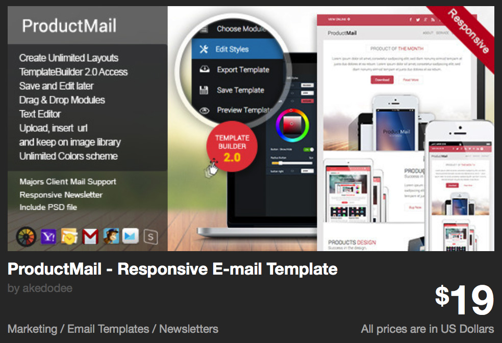 ProductMail - Responsive E-mail Template by akedodee | ThemeForest
