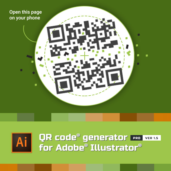 QR Code Generator for Illustrator by metisigor | GraphicRiver