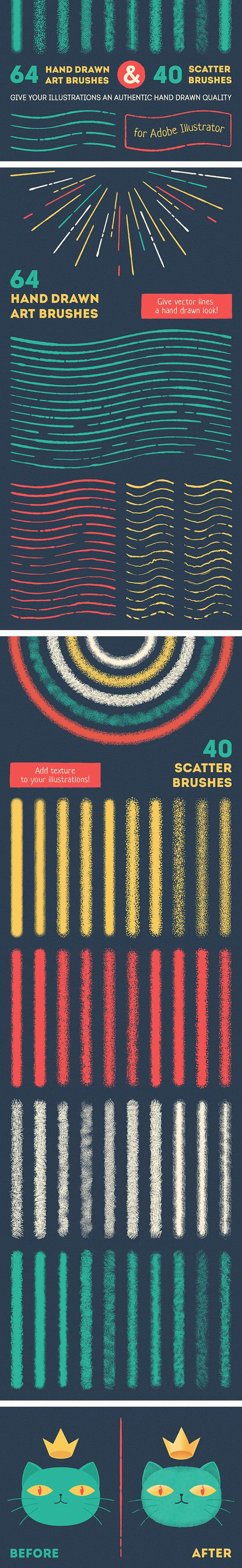 Vector Brush Set by koltsovserezha | GraphicRiver