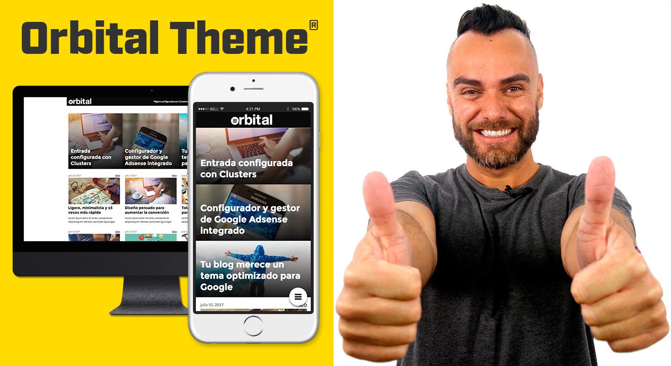 Compra Theme Orbital , ¡el más rápido y más optimizado de todos los themes que te ayudará a conseguir las mejores posiciones en Google!