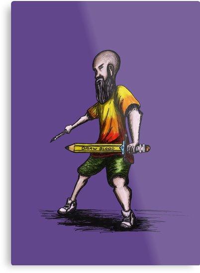Bearded warrior painter para Redbubble