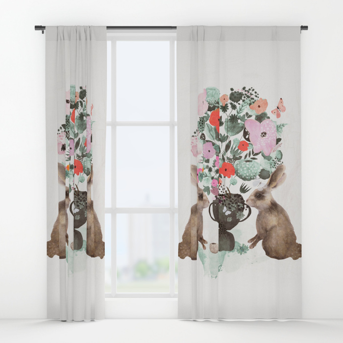 finders keepers Window Curtains by Danse de Lune | Society6