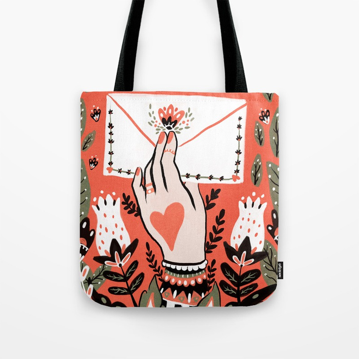 Love Letter Tote Bag by angelarizza | Society6