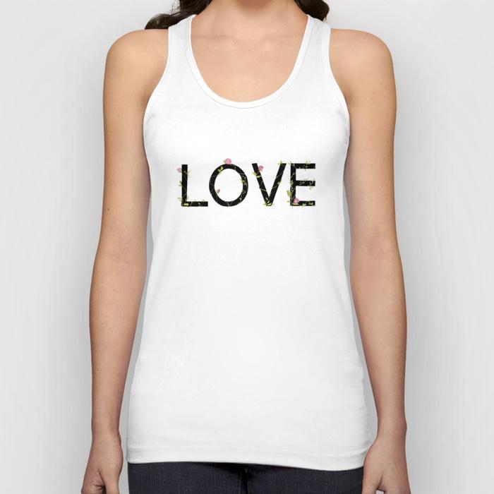 LOVE in bloom Unisex Tank Top by skinny_love | Society6