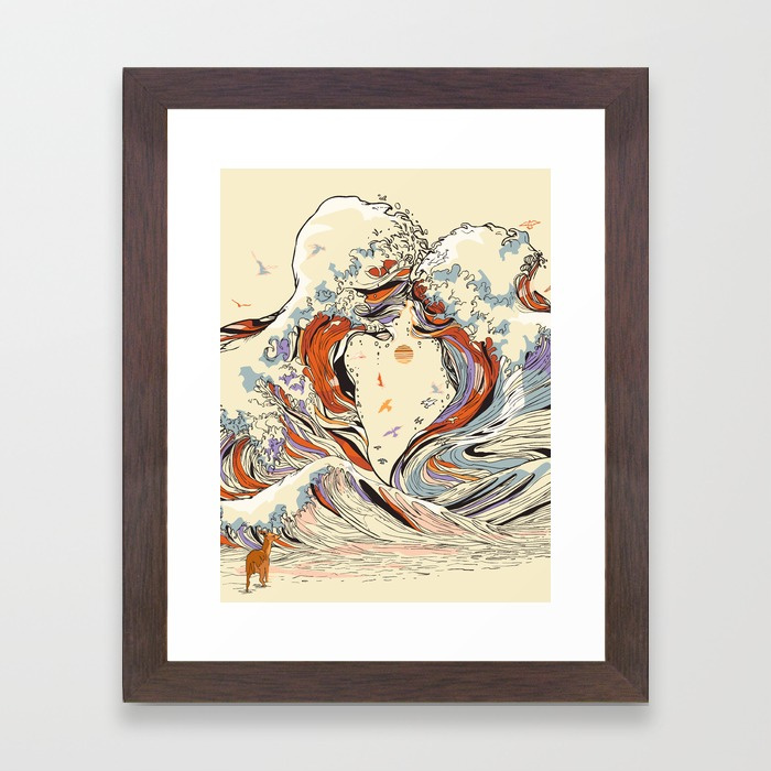 The Wave of Love Framed Art Print by huebucket | Society6