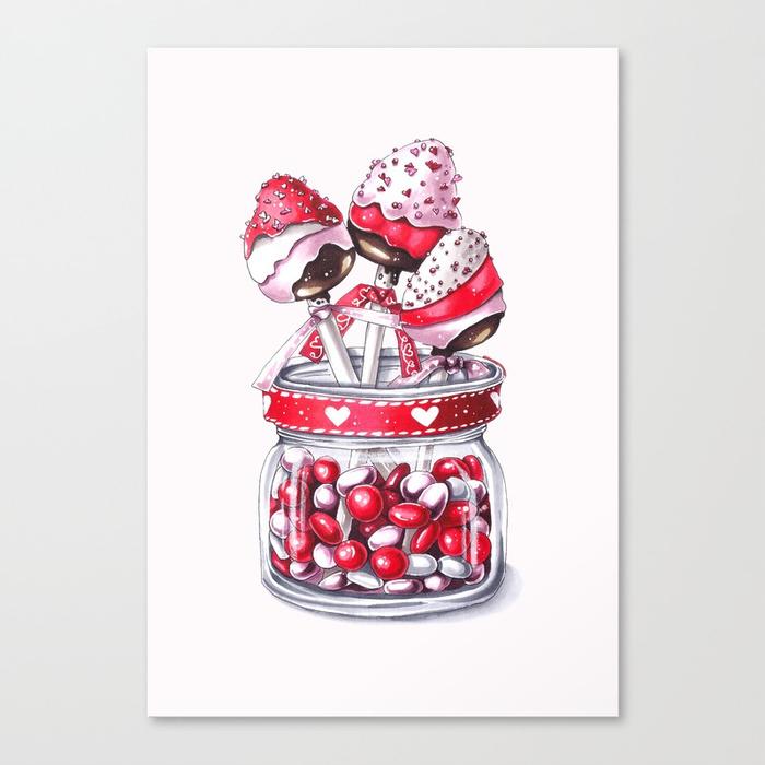 Valentine's Day art Canvas Print by artisjourney | Society6