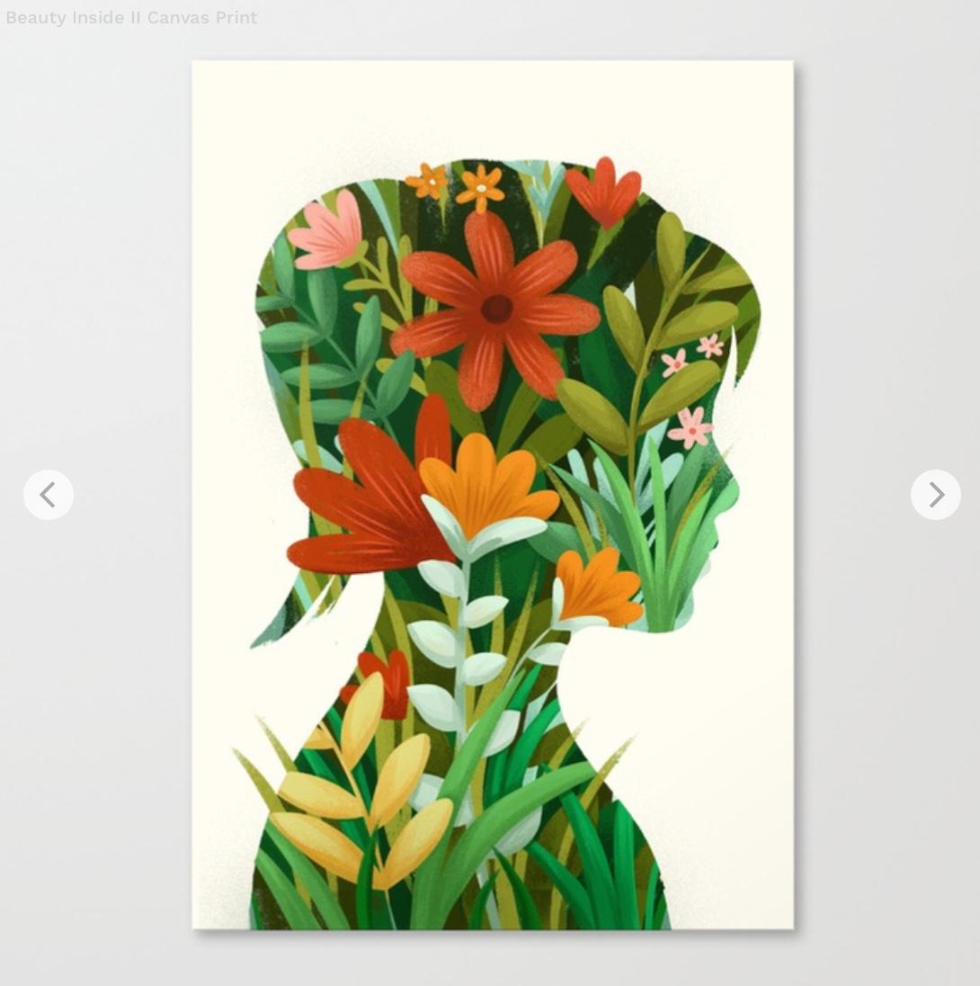 Beauty Inside II Canvas Print by sweetlaziness   Society6