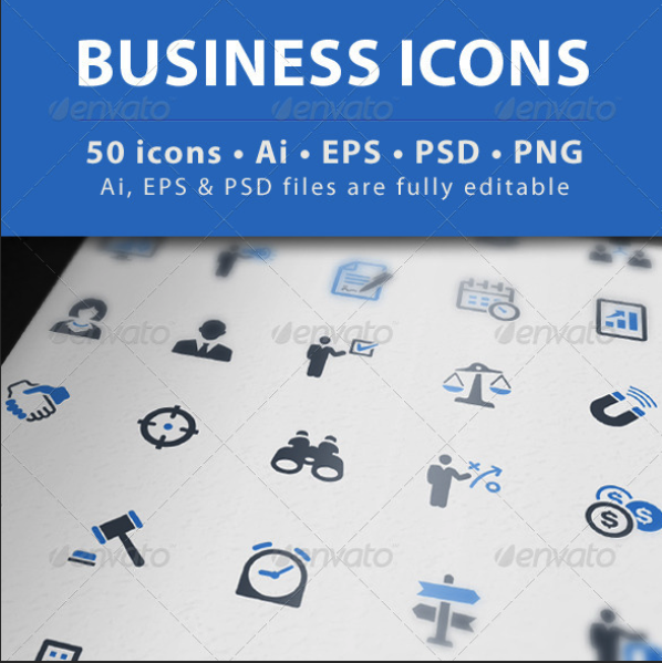 Business Icons - Blue Series by introwiz1 | GraphicRiver