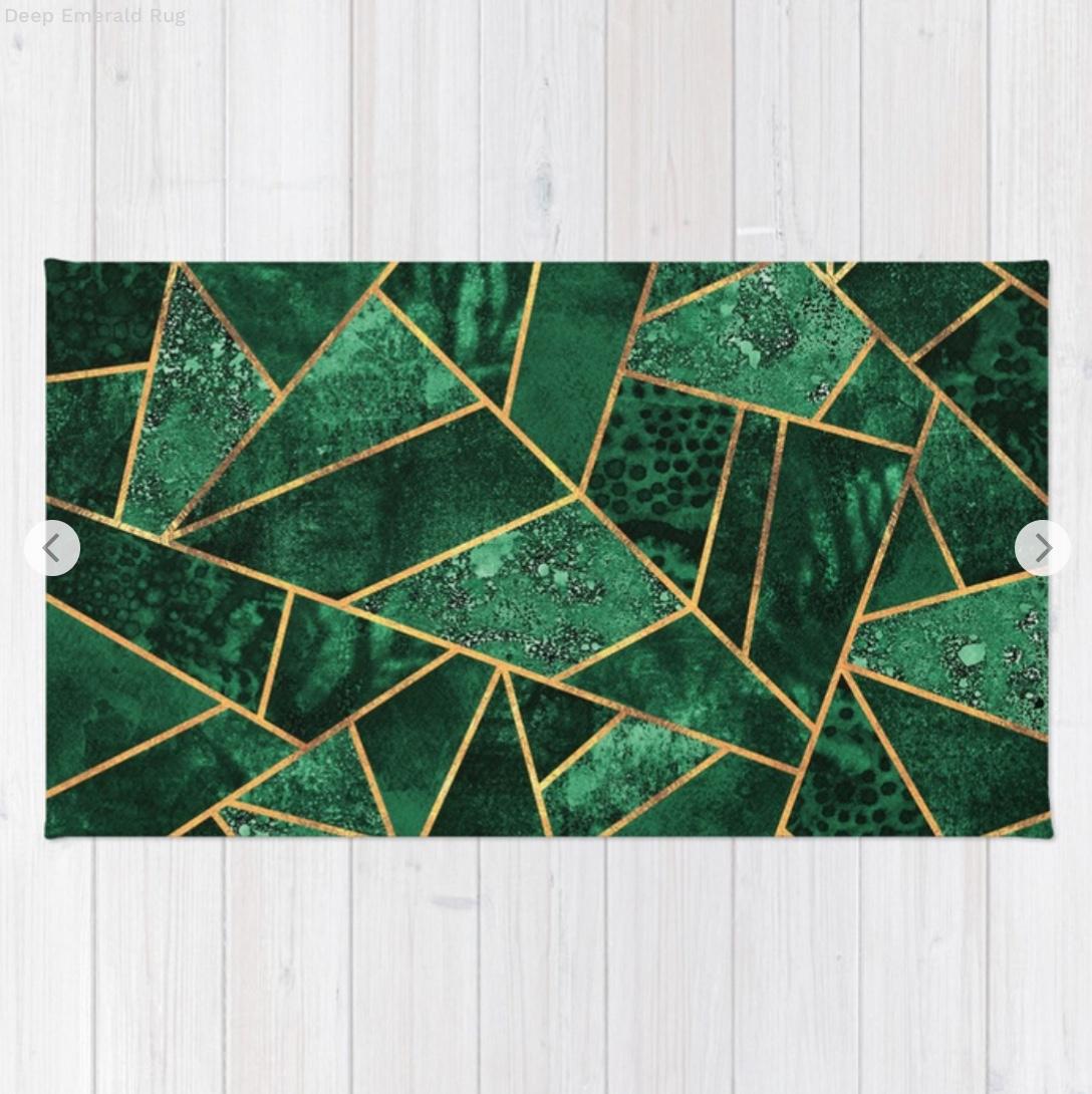 Deep Emerald Rug by elisabethfredriksson   Society6