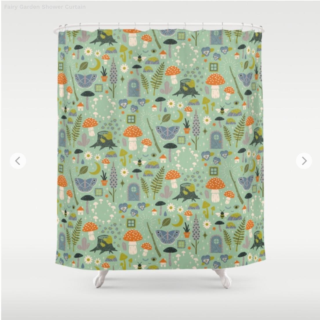 Fairy Garden Shower Curtain by camillechew   Society6