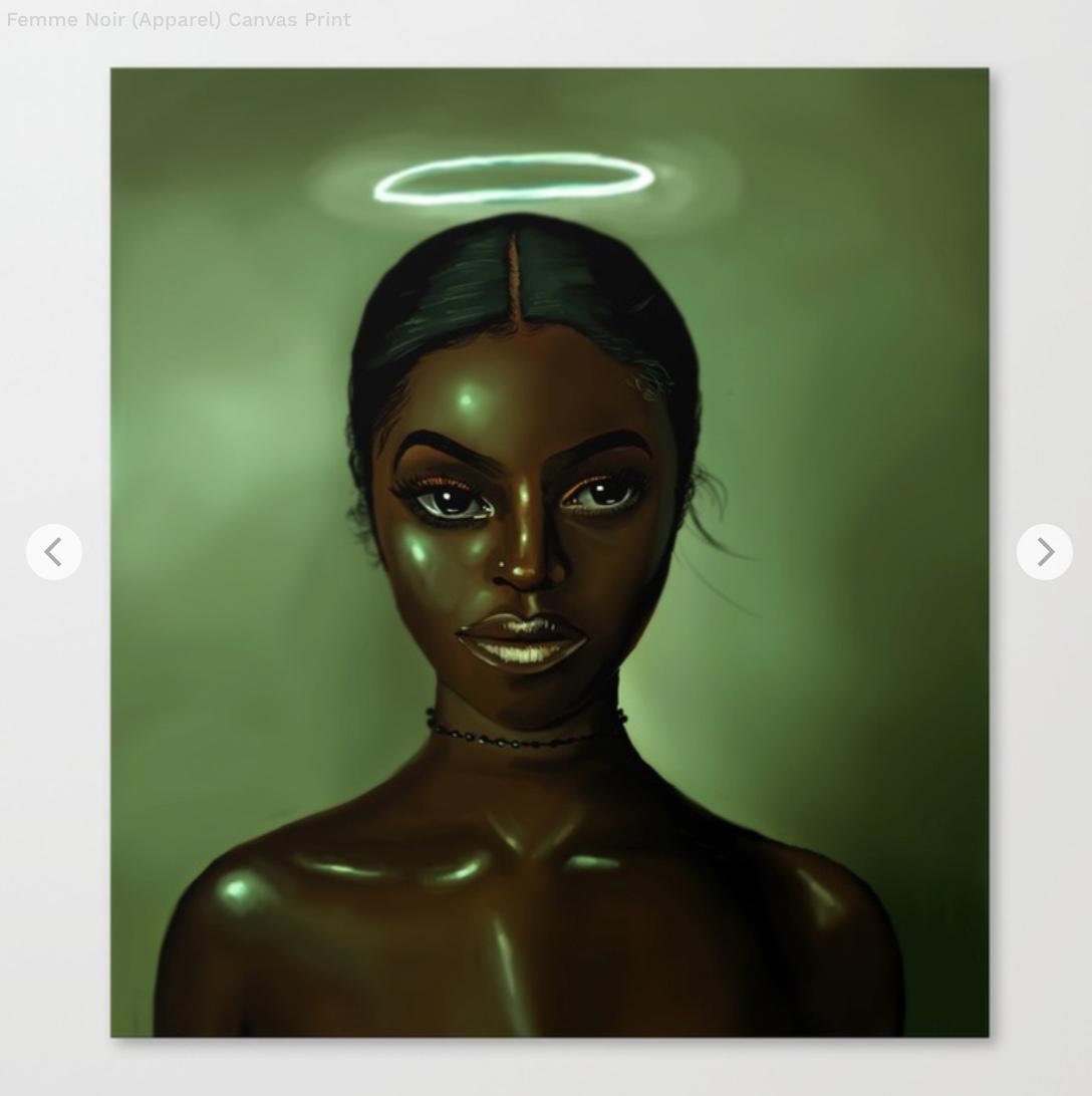 Femme Noir (Apparel) Canvas Print by foreverestherr   Society6