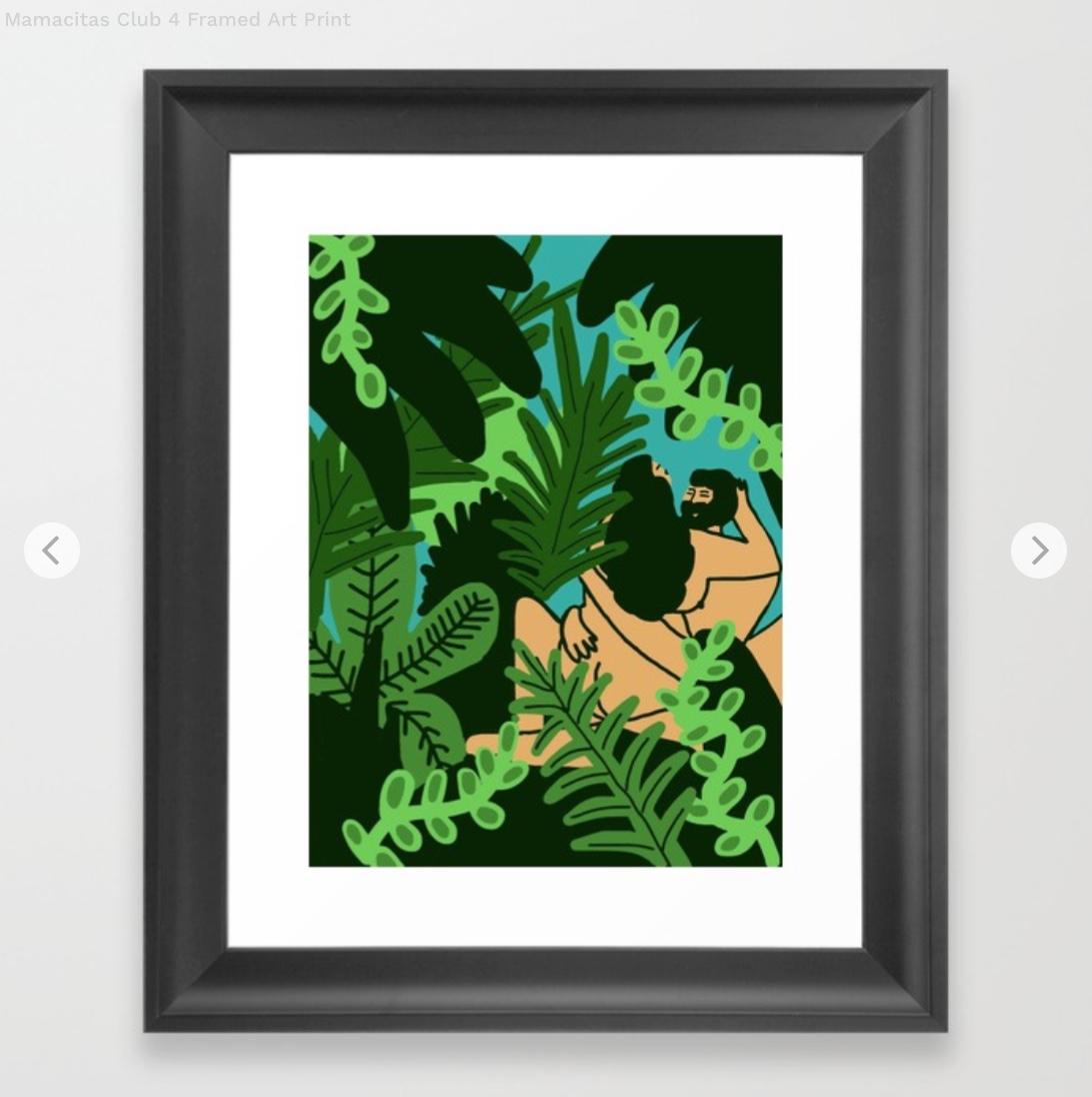 Mamacitas Club 4 Framed Art Print by regirivas