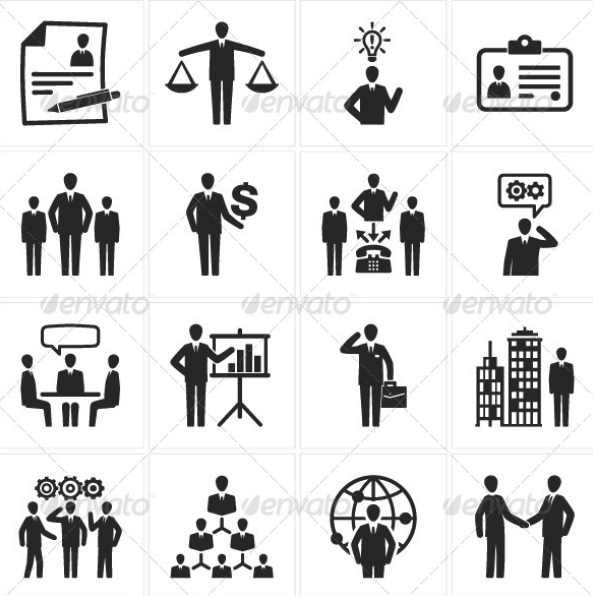Management and Human Resource Icons by introwiz1 | GraphicRiver
